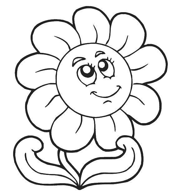 Раскраска цветы Скачать ,ладонь, пальцы,.  Распечатать