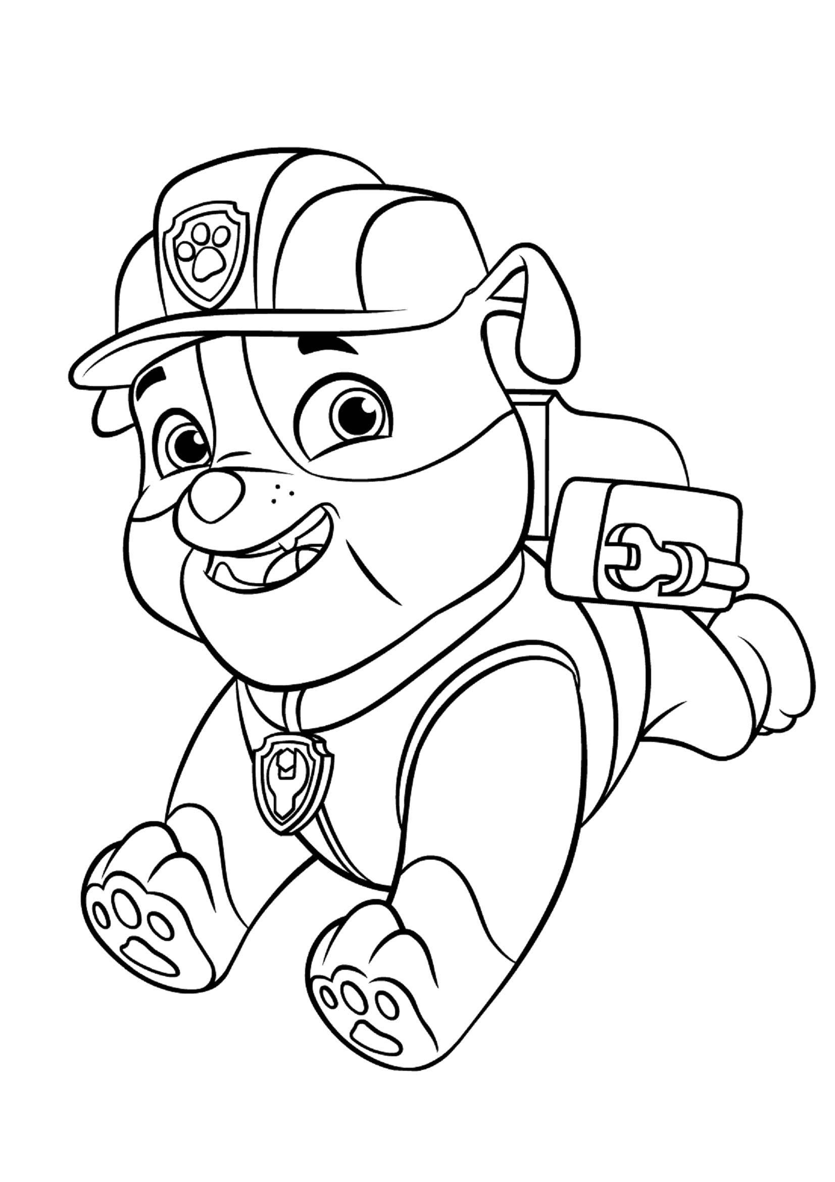 Раскраска щенячий патруль Скачать Свинка Пеппа.  Распечатать ,Свинка Пеппа,