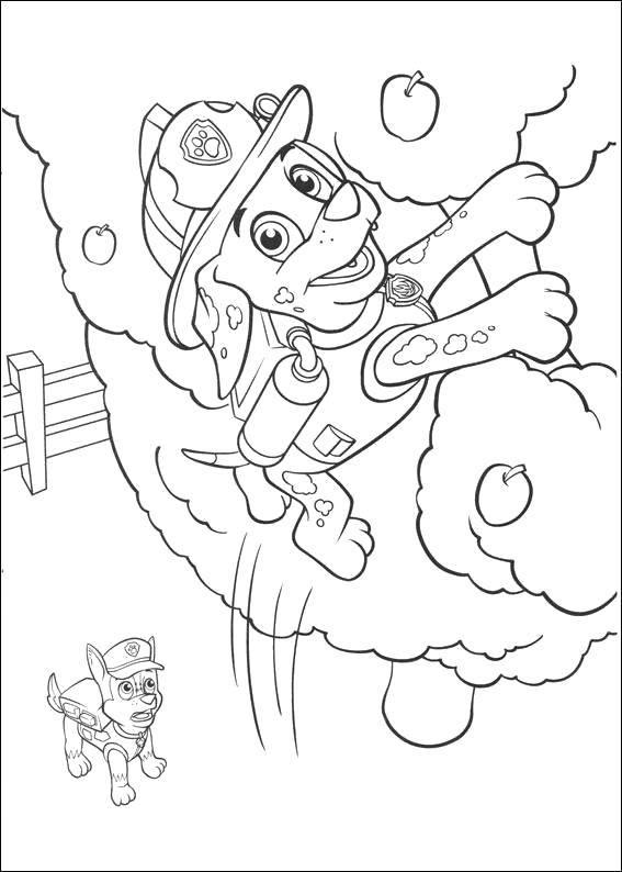 Раскраска щенячий патруль Скачать ,Свинка,.  Распечатать