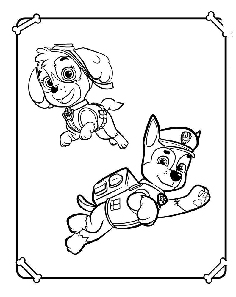 Раскраска щенячий патруль Скачать машины, авария.  Распечатать ,машины,