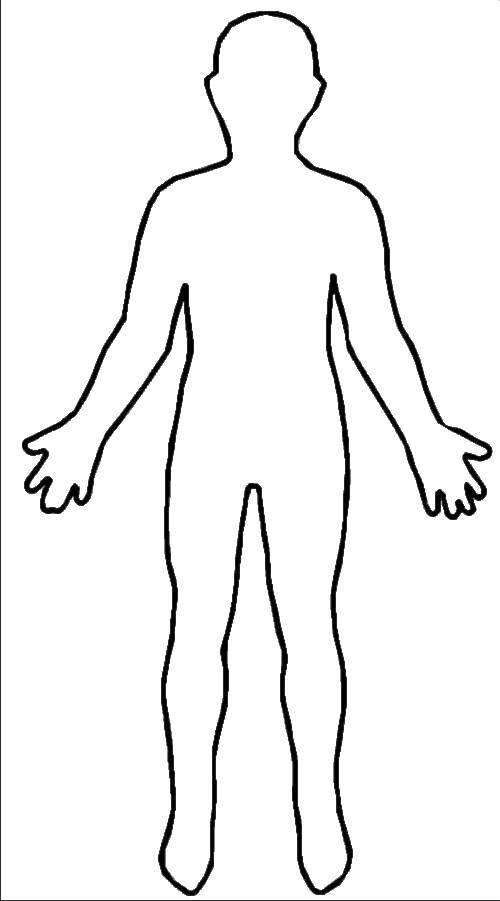 Раскраска Контур человека Скачать человек, контур.  Распечатать ,человек,
