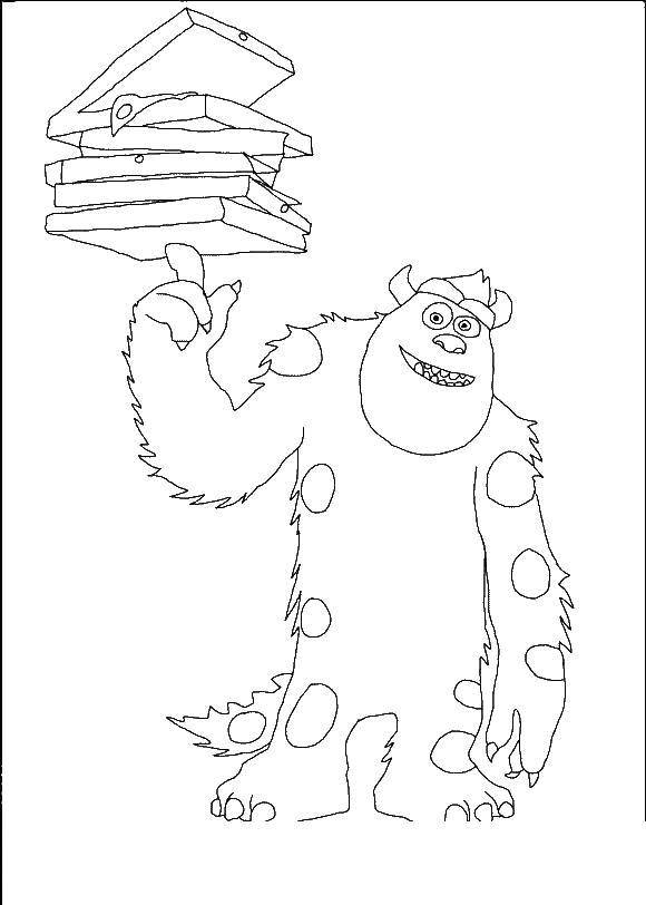 Online coloring pages Coloring page Sullivan Sully coloring pages ...