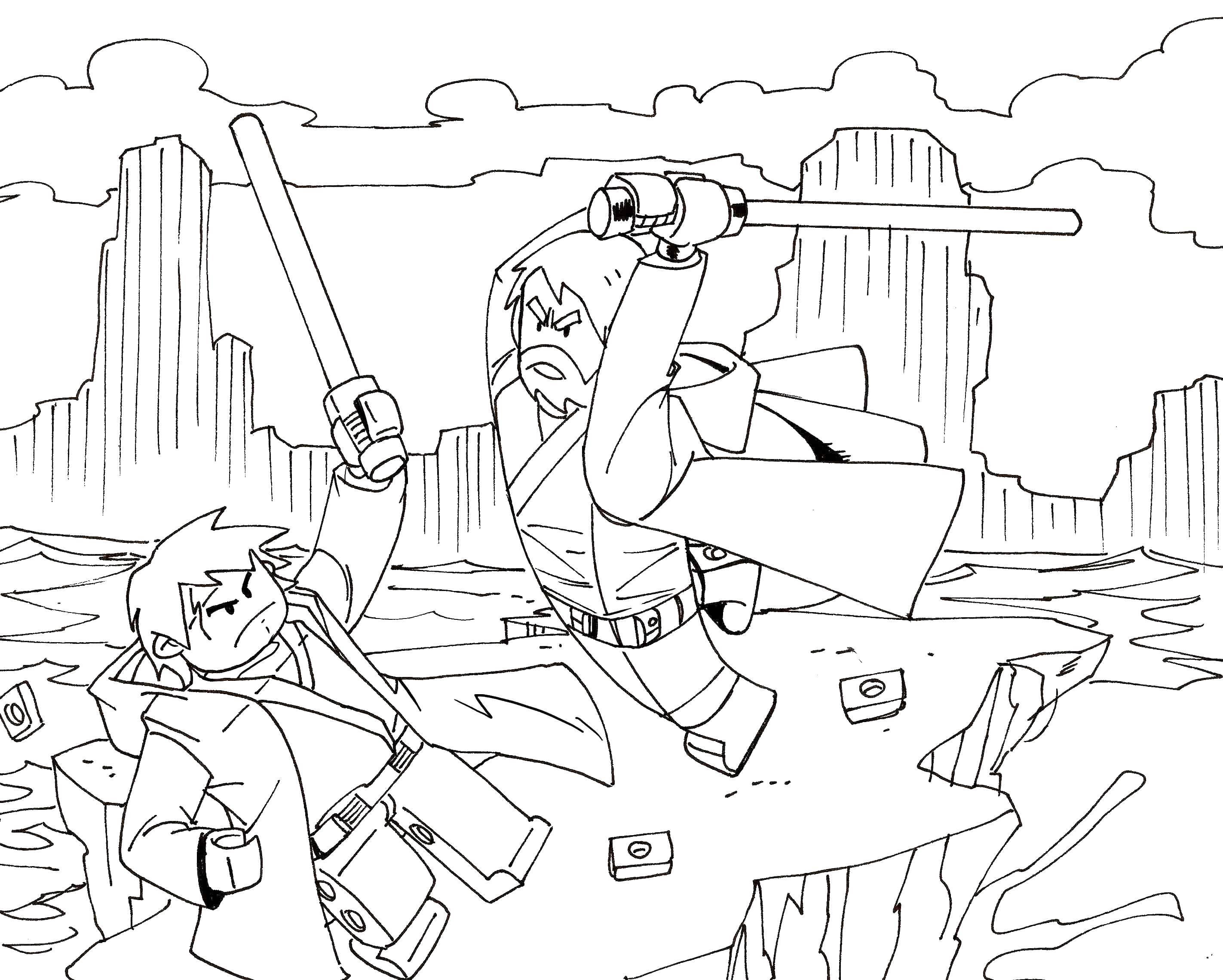 Раскраска Лего звездные воины Скачать лего, звездные воины.  Распечатать ,лего,