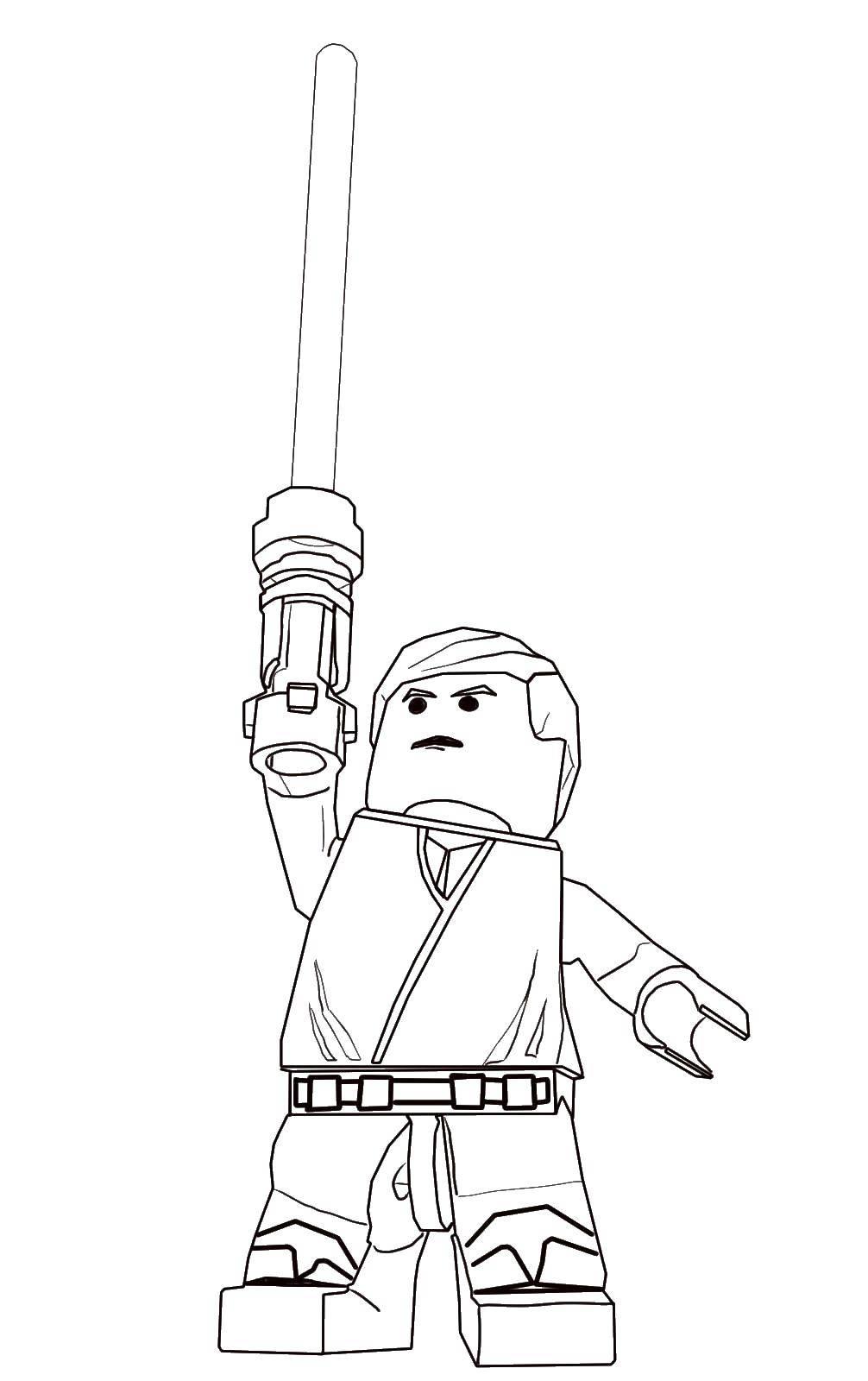 Раскраска Лено воин Скачать лего, воин.  Распечатать ,лего,