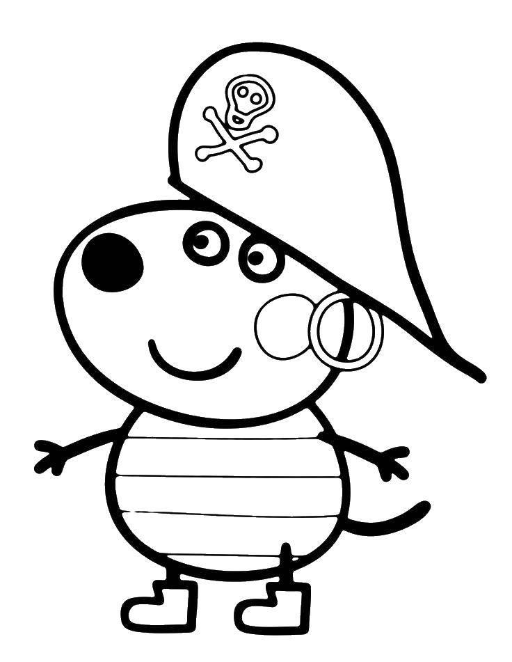 Раскраска Персонаж из мультфильма Скачать ,Хэллоу Китти, торт, день рождения,.  Распечатать