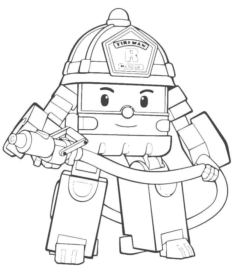 Название: Раскраска Рой робокар. Категория: поли робокар. Теги: рой, робокар.