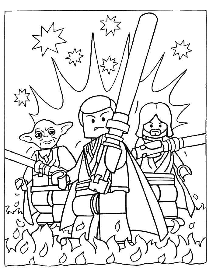 Раскраска Лего звездные воины Скачать лего, звездные воины.  Распечатать ,лего ниндзя го,
