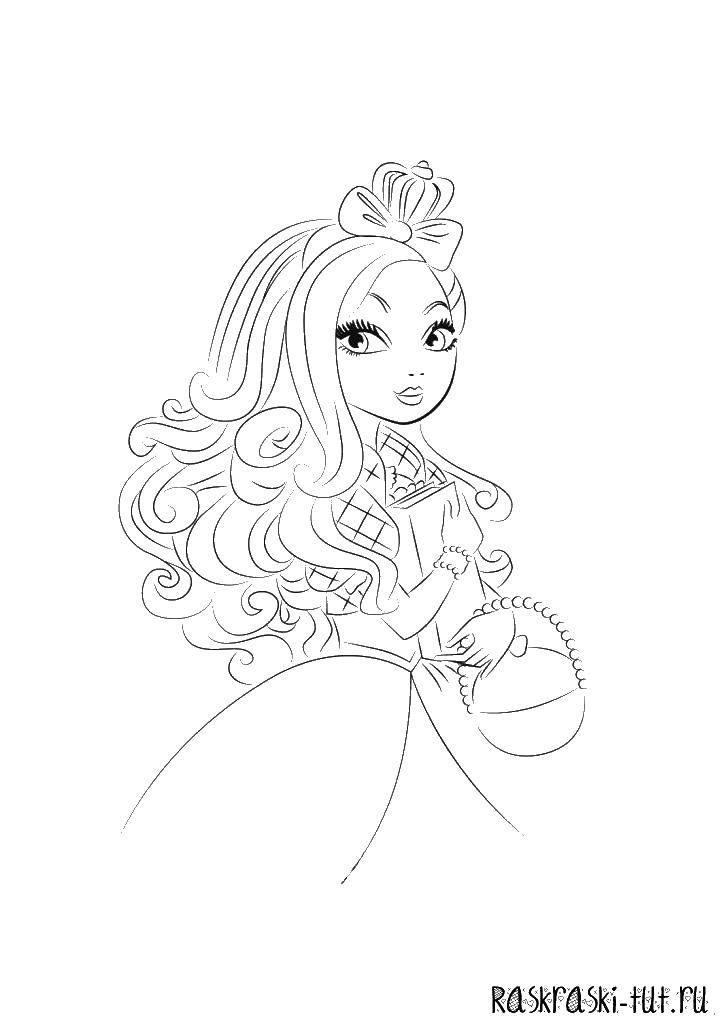 Раскраска Принцессы Скачать ,квадрат, круг, треугольник,.  Распечатать