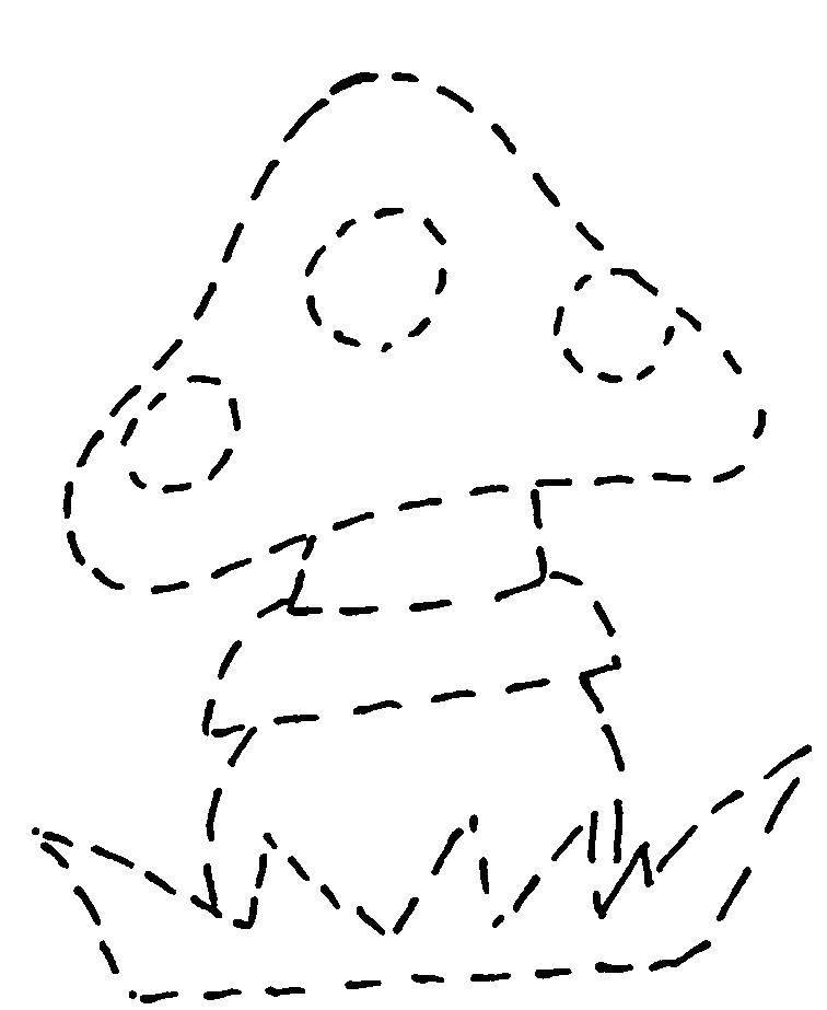 Раскраска грибы Скачать .  Распечатать