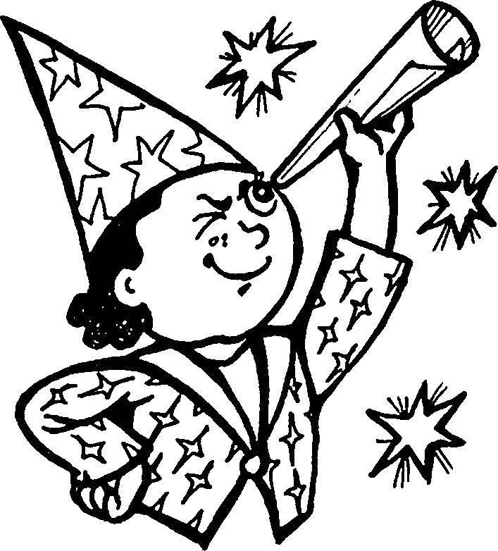 Раскраска Колдун Скачать волшебник, колдун.  Распечатать ,Волшебные создания,