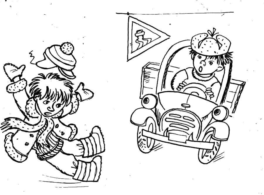 Раскраска правила дорожного движения Скачать рамка.  Распечатать ,винтажные рамки для текста,