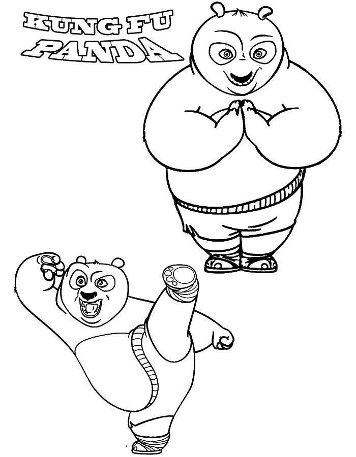 Раскраска Кунг фу панда воин дракона Скачать ,кунг фу панда, Воин дракона,.  Распечатать