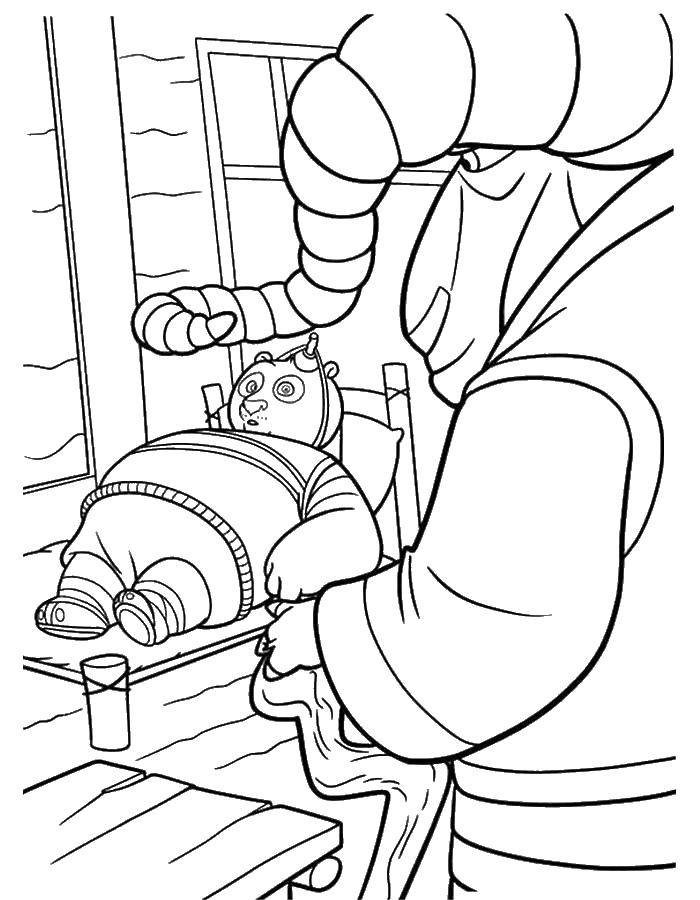 Раскраска Кунг фу панда Скачать кунг фу панда.  Распечатать ,кунг фу панда,