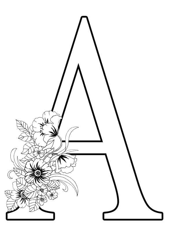 Раскраска Буквы Скачать ,по номерам, по точкам, картинка,.  Распечатать