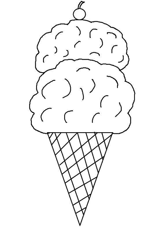 раскраски шарик раскраска шариковое мороженое мороженое