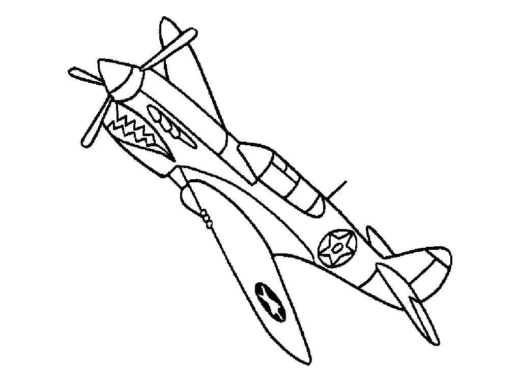 Раскраска Грозный самолёт Скачать Самолёт.  Распечатать ,Самолеты,
