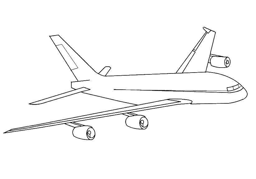 раскраски самолет раскраска пассажирский самолёт самолеты