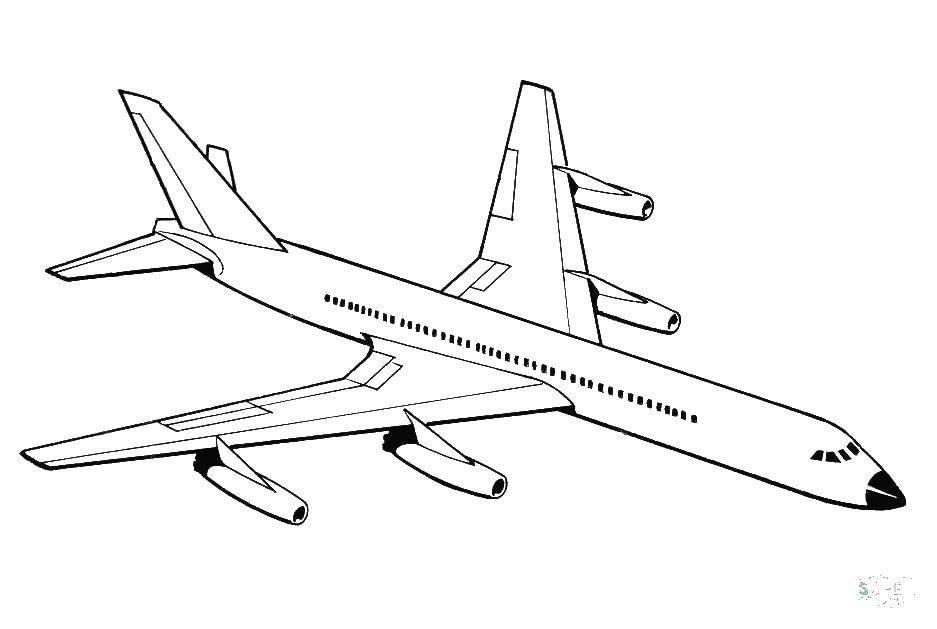 раскраски самолеты раскраска пассажирский самолет самолеты