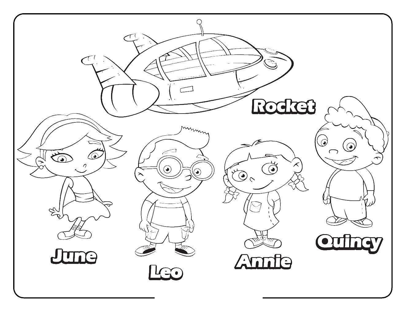 Раскраска Персонажи из мультфильма Скачать Персонаж из мультфильма.  Распечатать ,мультик,