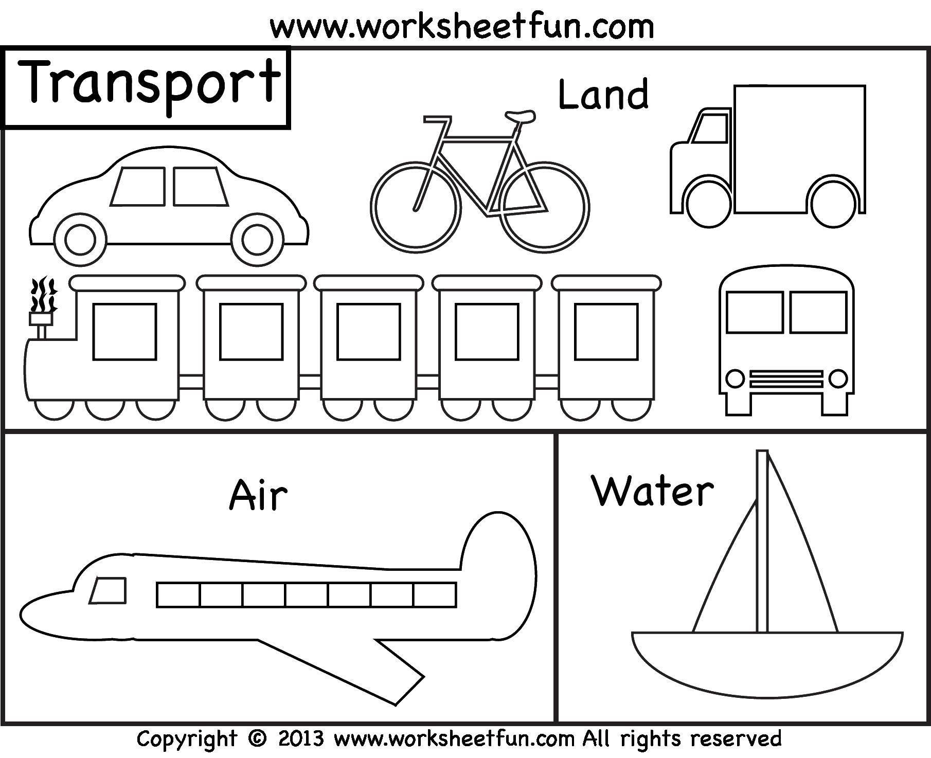 Раскраска Наземный, воздушный, водный транспорт Скачать наземный, воздушный, водный транспорт.  Распечатать ,транспорт,