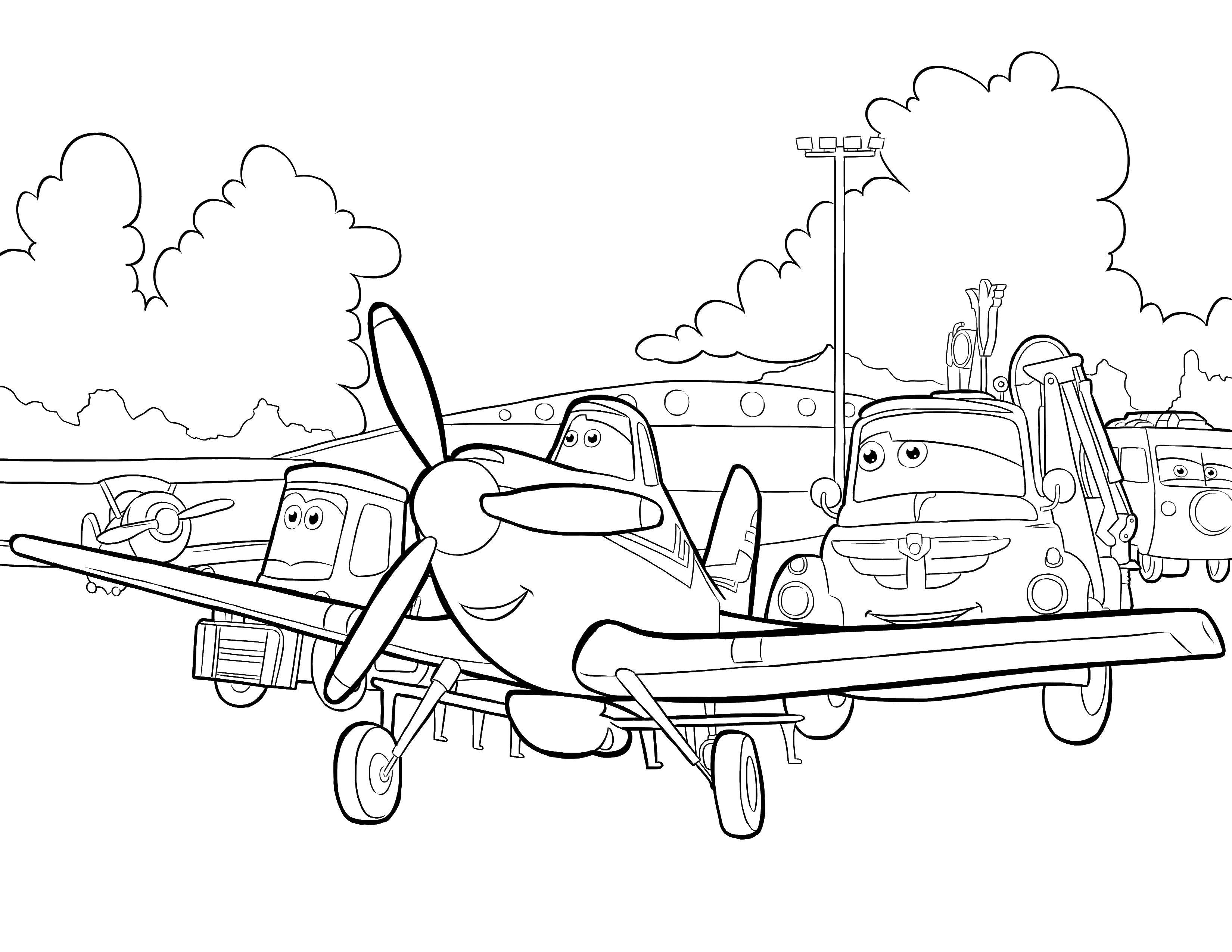 Coloring aircraft category the planes tags plane