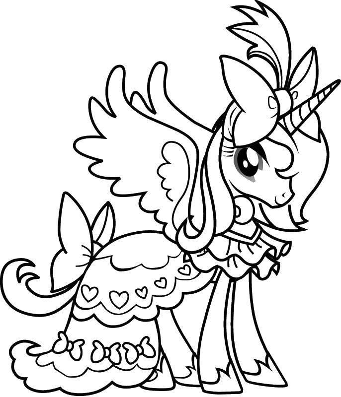 Раскраска Пони единорог пегас Скачать Пони, My little pony .  Распечатать ,мой маленький пони,