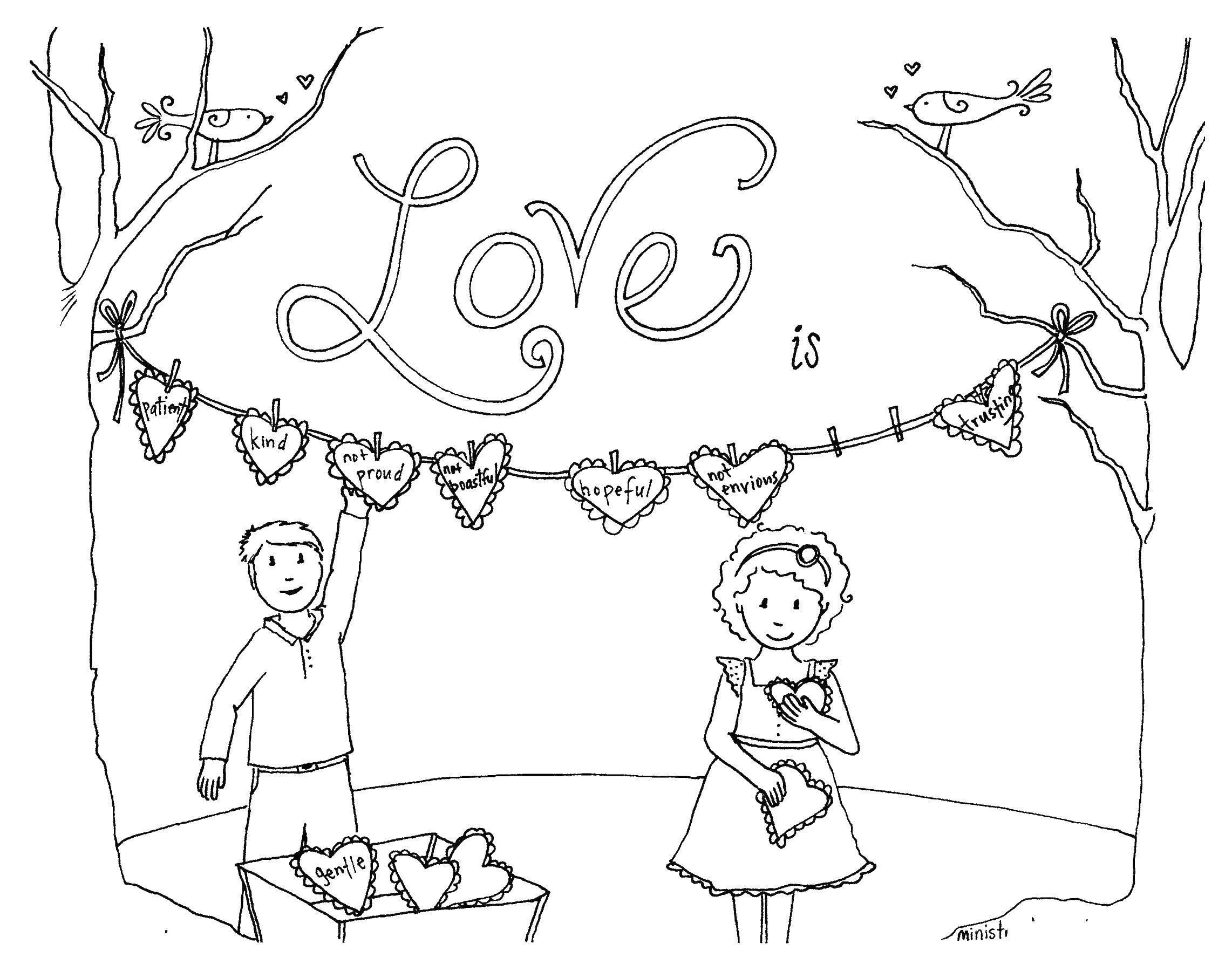 Раскраска Любовь это... Скачать Признание, любовь, сердце.  Распечатать ,Я тебя люблю,