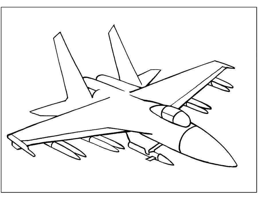 Раскраска самолеты Скачать ,лист, тетрадь, линейка,.  Распечатать