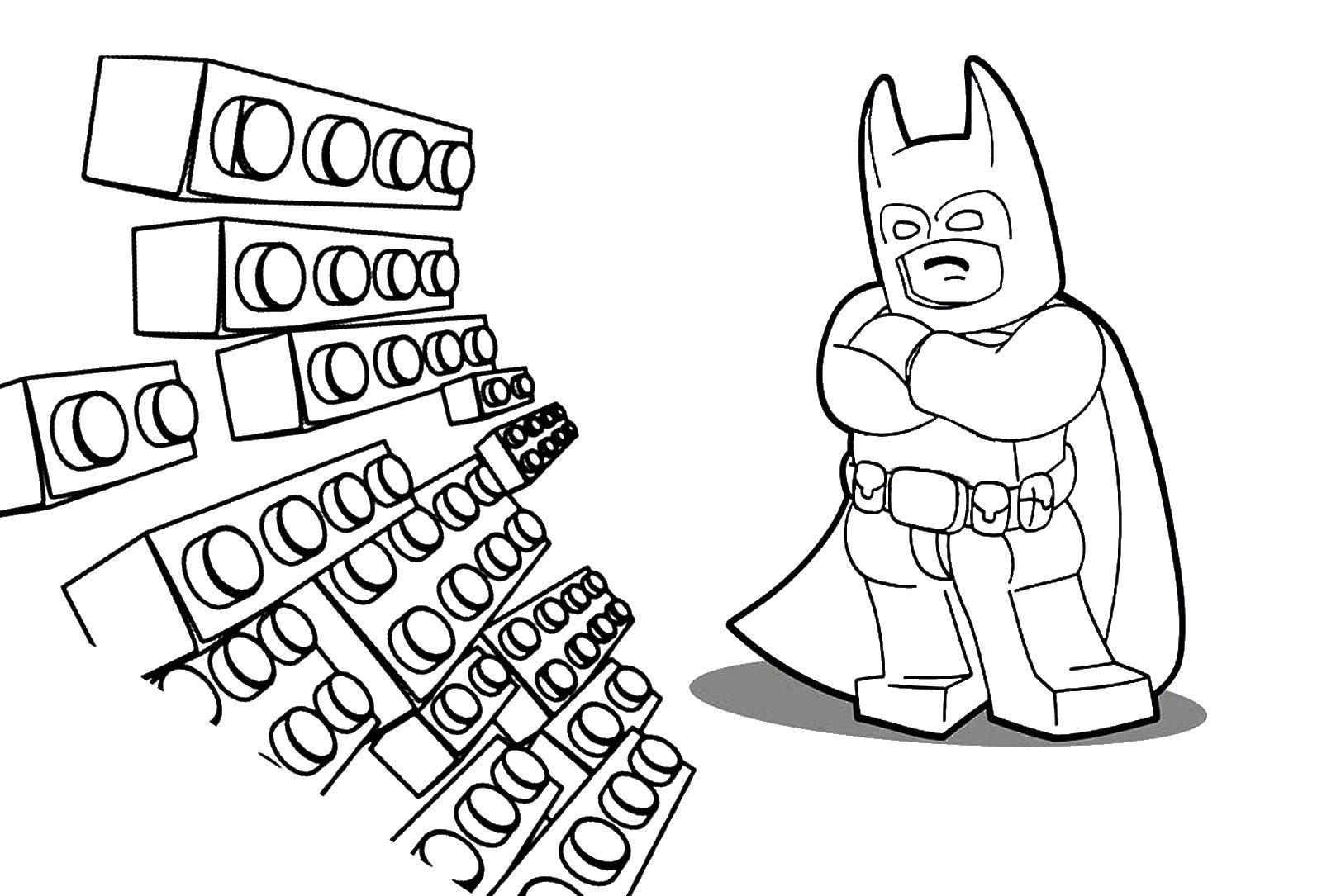 Раскраска Лего Скачать контур, мишка.  Распечатать ,Контур медведя для вырезания,
