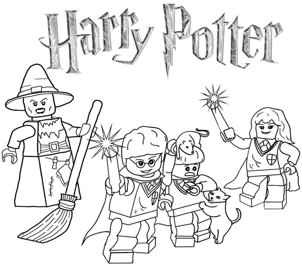 Раскраска Гарри поттер Скачать Конструктор, Лего.  Распечатать ,Лего,