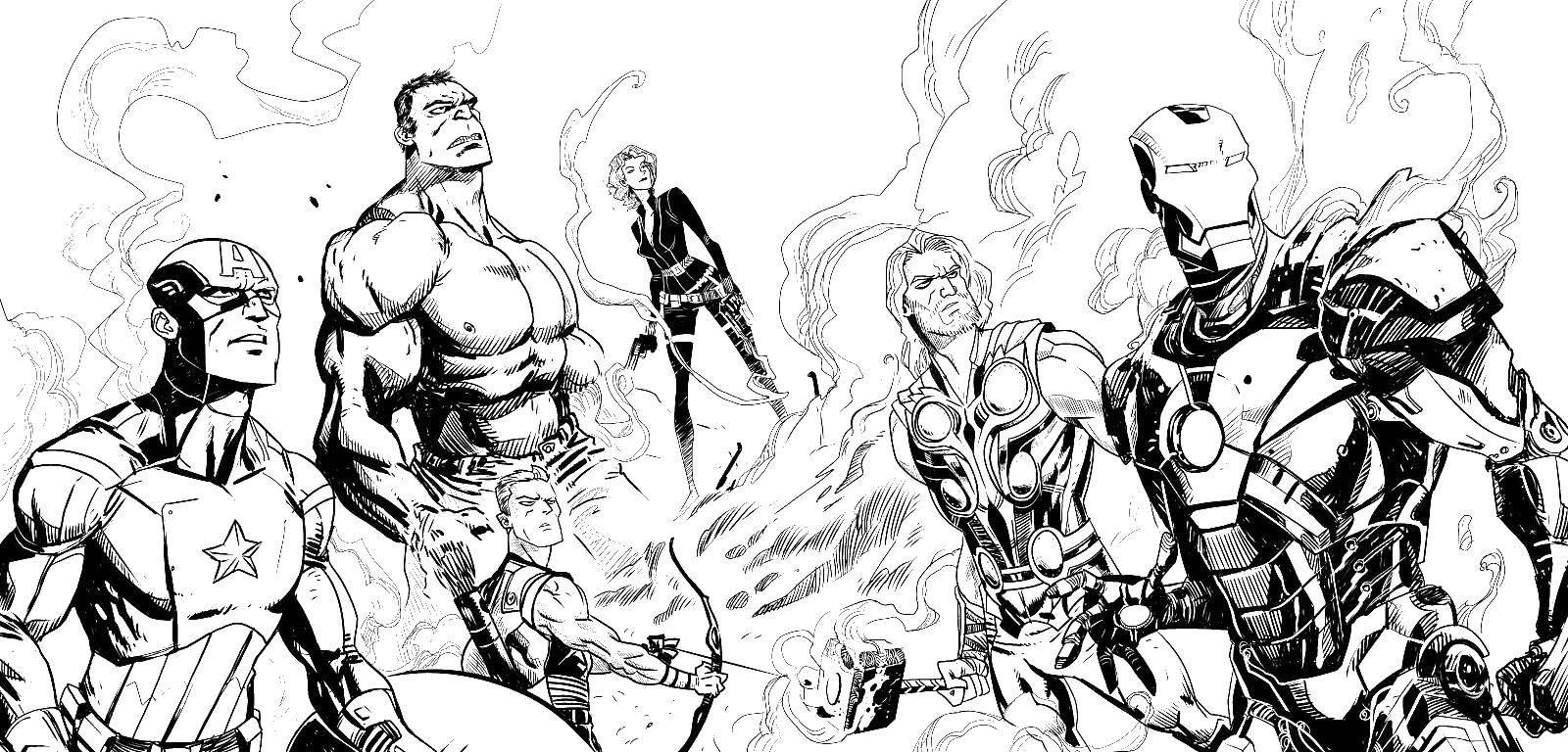 Раскраска Герои марвел Скачать супергерой, марвел.  Распечатать ,супергерои,