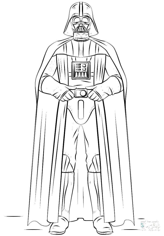 Раскраска Персонажи из фильмов Скачать ,Звездные Войны,.  Распечатать