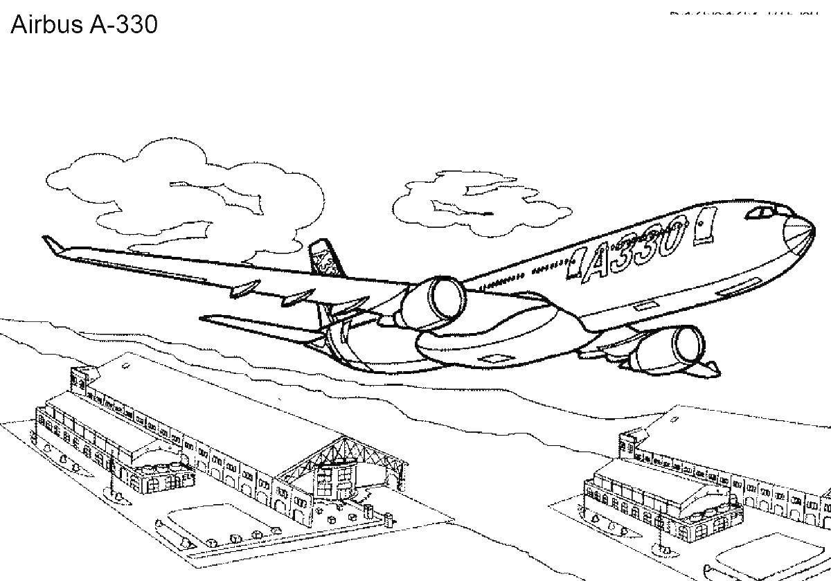 раскраски самолёты раскраска пассажирский самолет самолеты
