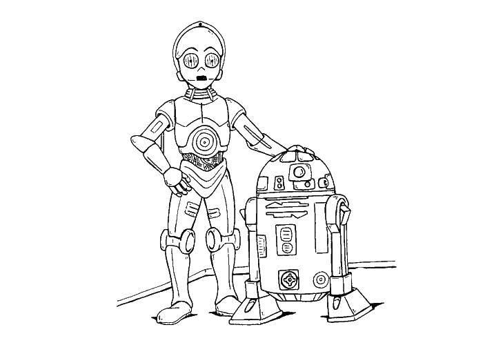 Раскраска Дроиды Скачать дроиды , звездные войны.  Распечатать ,звездные войны,