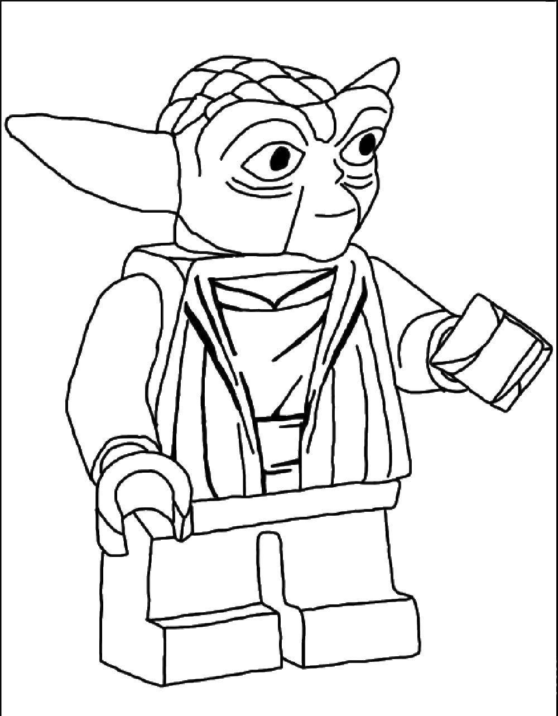 Раскраска Лего йода Скачать лего, конструктор, йода.  Распечатать ,Лего,
