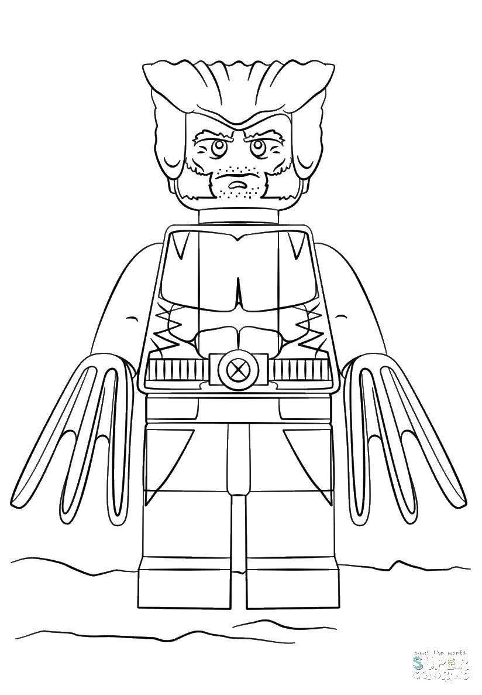 Раскраска Лего росомаха Скачать Лего, Росомаха.  Распечатать ,Лего,
