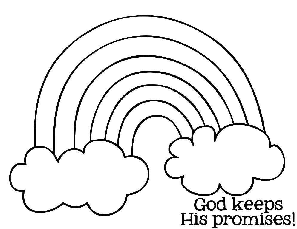 Online Coloring Pages Coloring Page Rainbow And Clouds The Rainbow