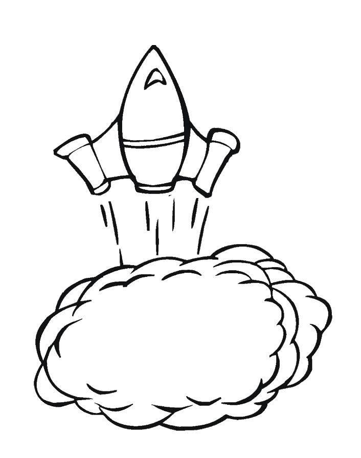 Раскраска ракеты Скачать ,Открытка, Новый Год, Рождество,.  Распечатать
