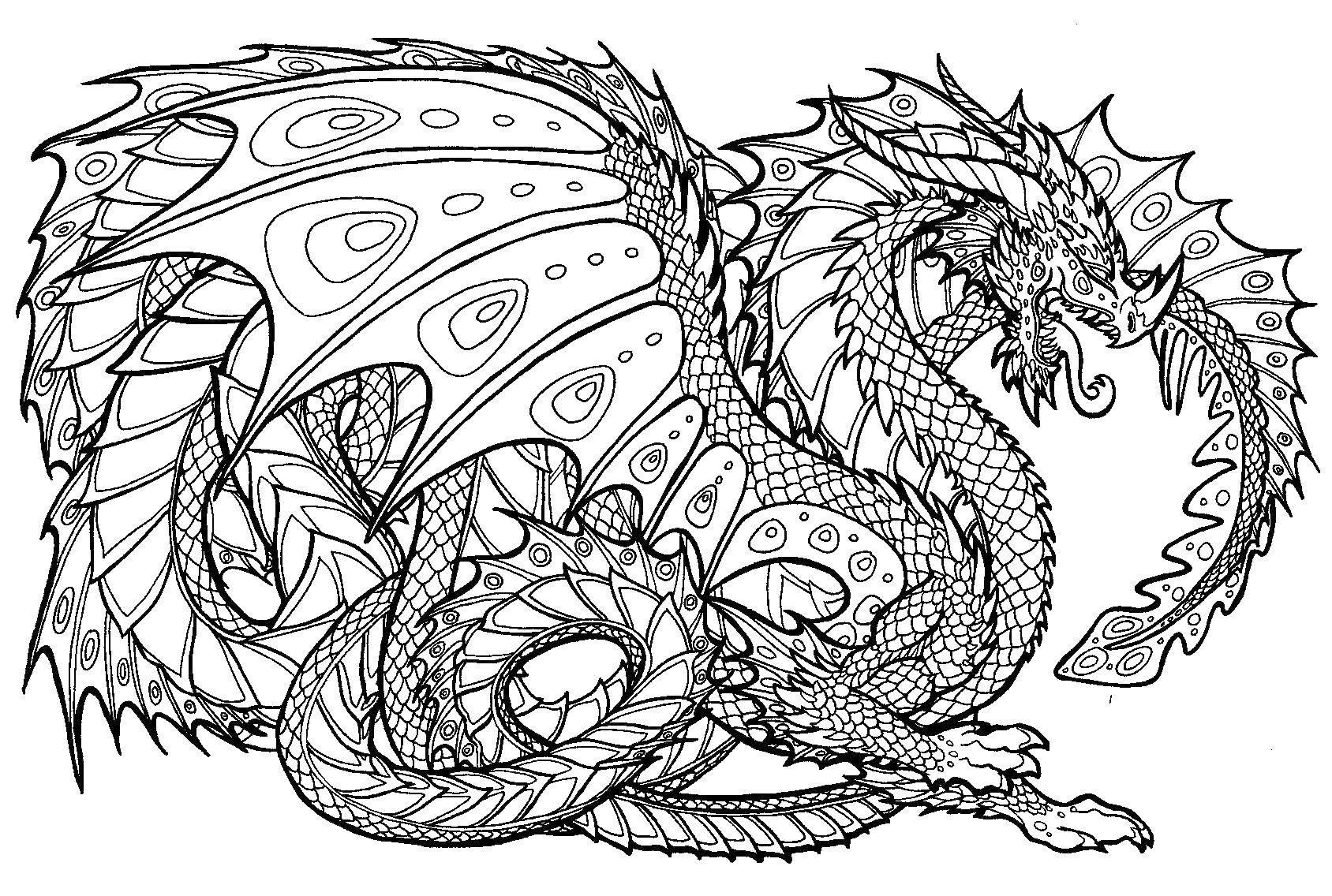 Раскраска Драконы Скачать ,дракон,.  Распечатать
