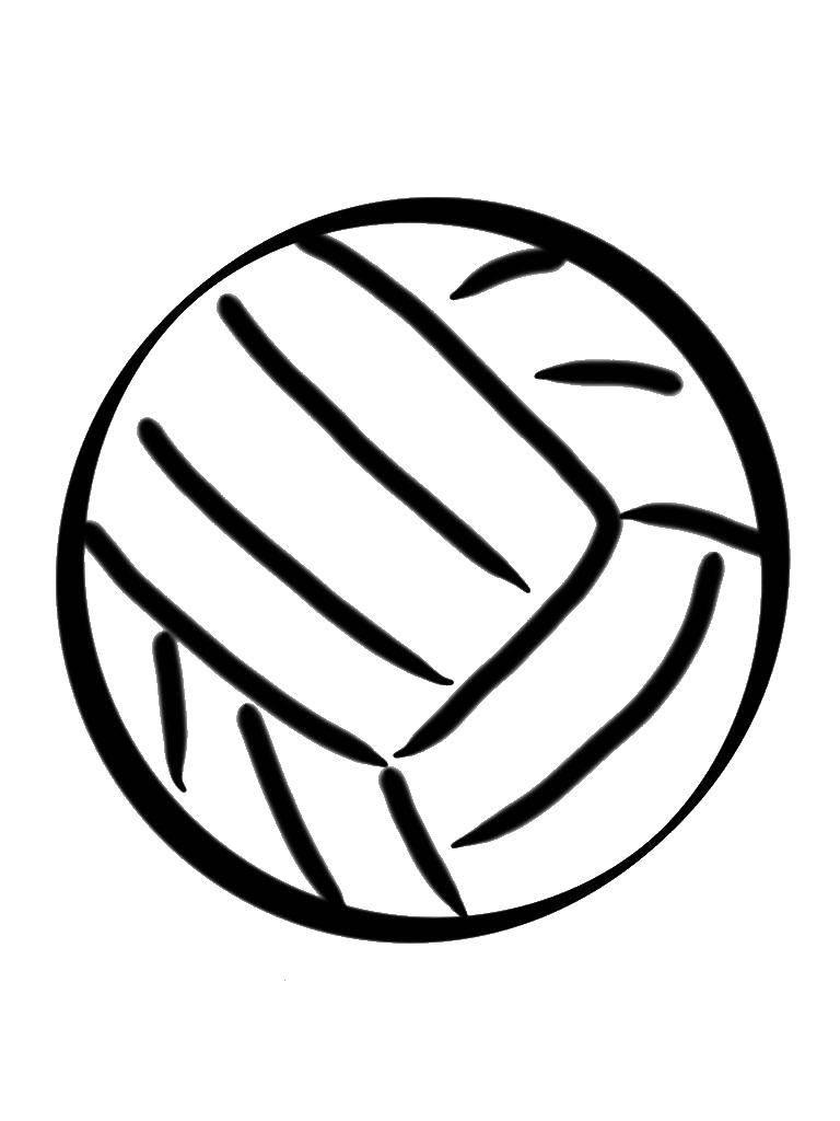 Раскраска Волейбольный мяч Скачать Спорт, волейбол, мяч.  Распечатать ,Спорт,