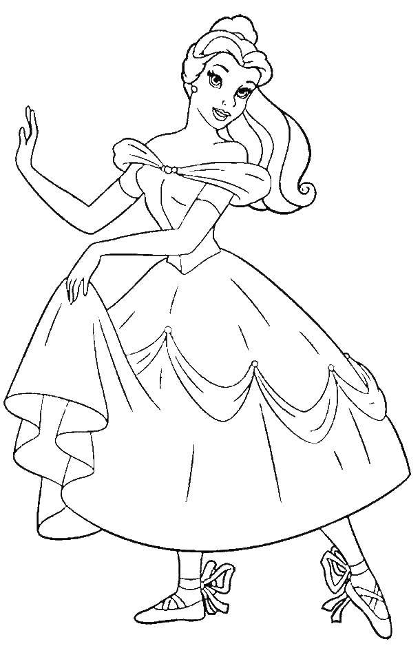 Раскраска принцесса Скачать Одежда, платье.  Распечатать ,Платья,