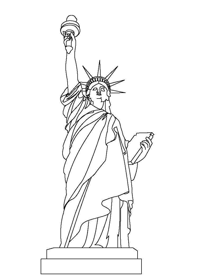 Raskraski Statuya Raskraska Statuya Svobody Ssha