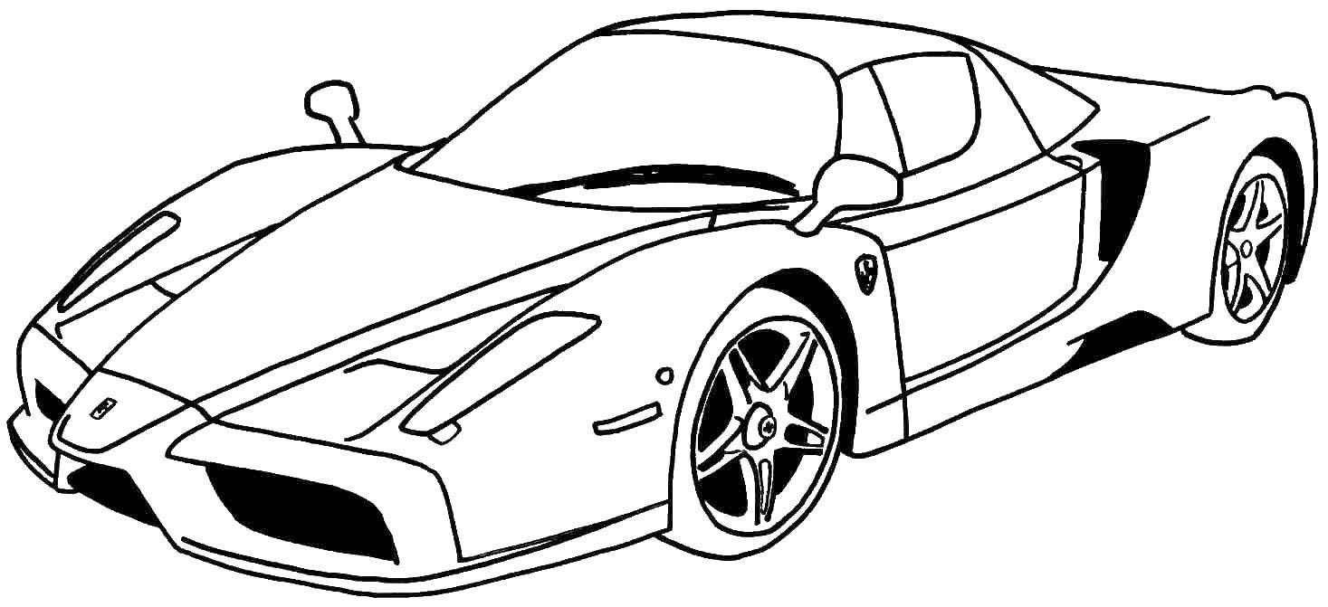 раскраски раскраска спортивная машина машины скачать