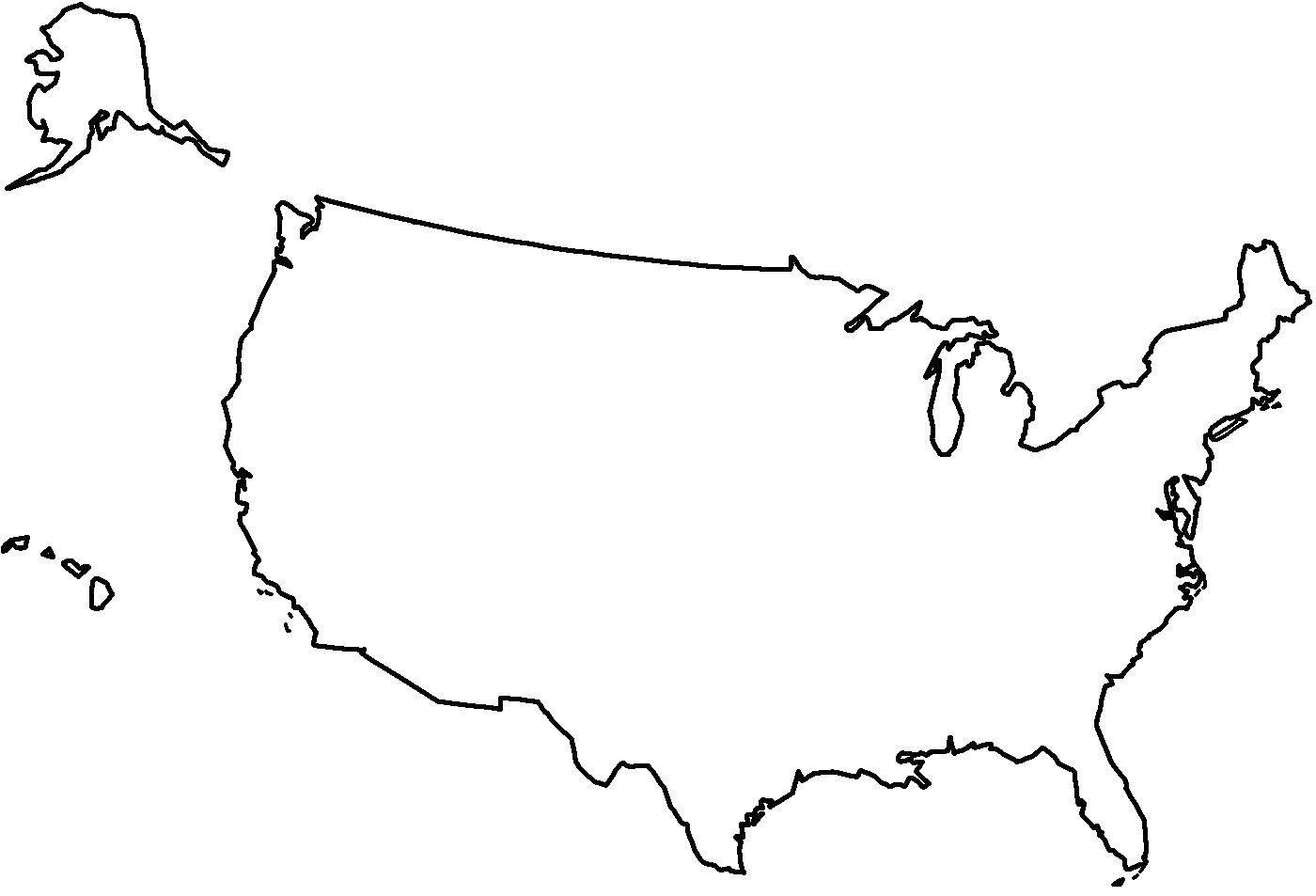 Раскраска США Скачать .  Распечатать