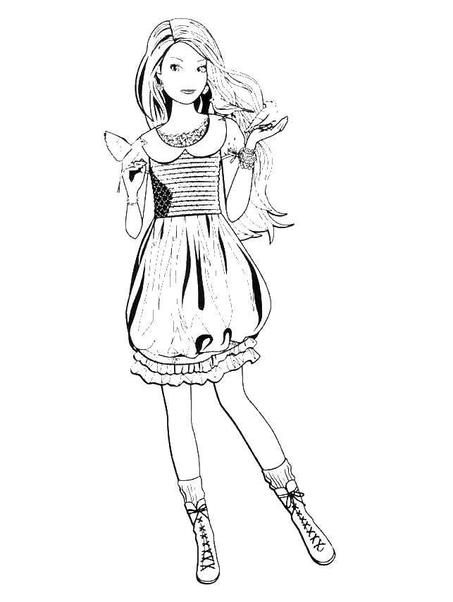 Раскраска принцесса Скачать ,принцесса, сказка, Эльза,.  Распечатать