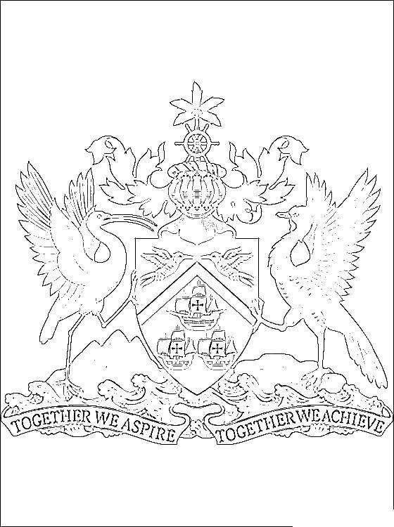 Раскраска Герб Скачать королевство, герб.  Распечатать ,Король,