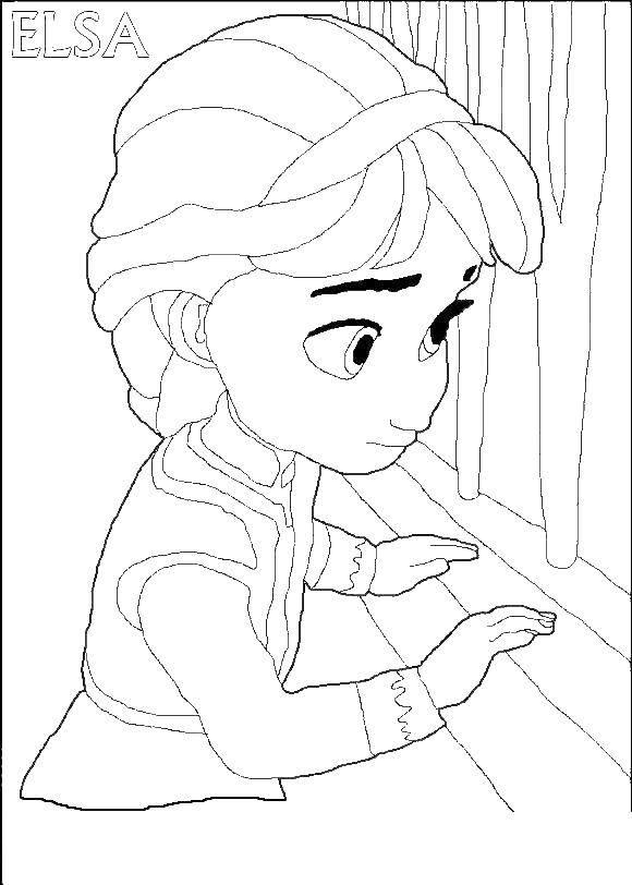 Раскраска Принцессы Скачать снеговик Олаф, холодное сердце.  Распечатать ,Персонаж из мультфильма,