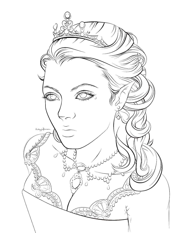 Раскраска принцесса Скачать плащь.  Распечатать ,одежда,