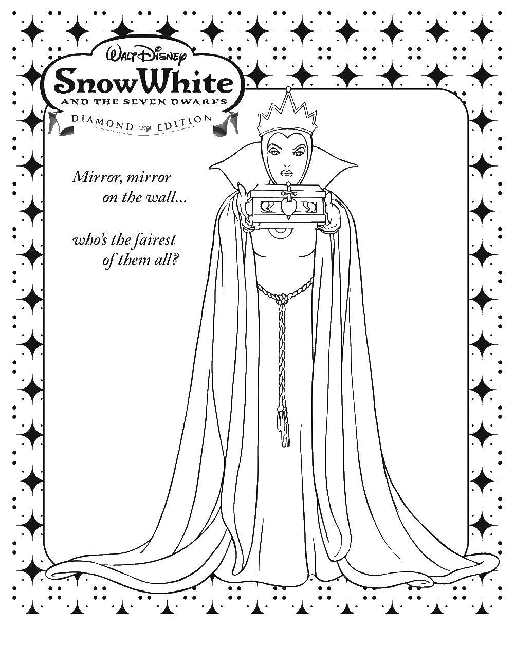 Coloring page - Snow Queen and Kai | 1294x1000