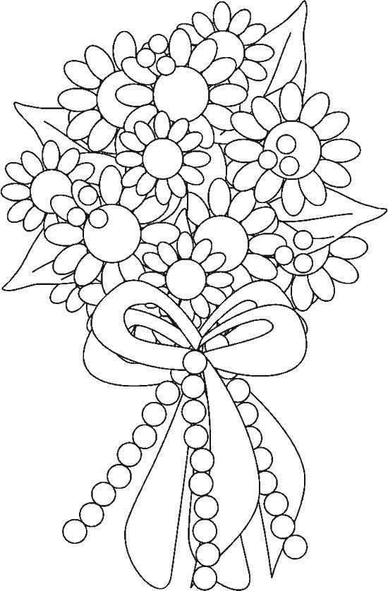 Раскраска Букет цветов Скачать цветы, букет.  Распечатать ,Свадьба,